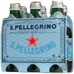Sparkling mineral water San Pellegrino glass bottle 250ml