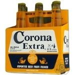Pasteurized lager Corona Extra 4.6%alc 6х330ml