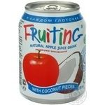 Non-alcoholic non-carbonated juice-containing drink of apple juice Fruiting can 238ml
