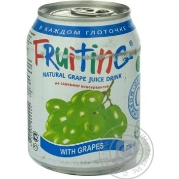 Напиток Фрутинг из виноградного сока безалкогольный сокосодержащий негазированный 238мл