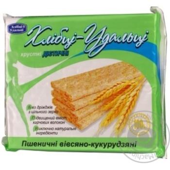 Crispbread Hlebtsy-udal'tsy wheat-oats-corn for diabetics 100g packaged - buy, prices for Furshet - image 6