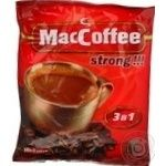 Instant coffee drink MacCofee strong 3in1 25х12g