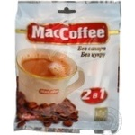 Instant sugar-free coffee drink MacCofee 2in1 with coffee extract stick 12g Singapore