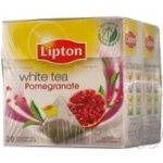 Tea Lipton pomegranate white packed 20pcs 30g cardboard packaging Russia