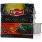 Черный чай Липтон Оранж Джайпур с цедрой апельсина крупнолистовой в пакетиках 20х1.8г Россия