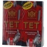 Черный чай ТЕТ Английский Завтрак байховый купажированный мелкий в пакетиках 2х40г Англия