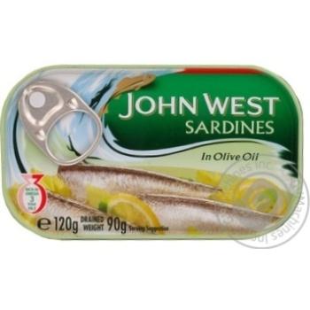 Сардины John West в оливковом масле 120г Португалия