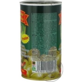 Оливки Маэстро де Олива зеленые с креветкой 370мл - купить, цены на Novus - фото 2