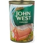 Fish pink salmon Jonh west canned 418g can Usa