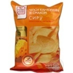 Chips Fine food potato with taste of cheese 80g Ukraine