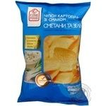 Chips Fine food potato with taste of sour cream 150g Ukraine