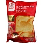 Chips Fine food potato with bacon 80g Ukraine