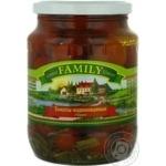 Vegetables tomato cherry tomatoes Family pickled 1000g glass jar Ukraine