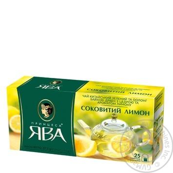 Чай Принцеса Ява зелений з лимоном у пакетиках 1уп.х25пак 50г - купити, ціни на Ашан - фото 2