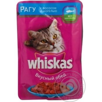 Корм для котов Whiskas с лососем в соусе 100г - купить, цены на Фуршет - фото 8