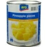 Fruit pineapple Aro pieces 850ml can