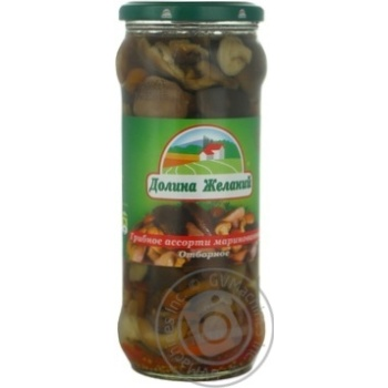 Mushrooms Dolina jelaniy pickled 580ml glass jar