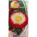 Насіння Квіти Айстра помпон. Зимова Вишня Семена Украины 3г