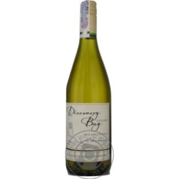 Вино белое Дискавери Бей Шардоне виноградное натуральное столовое полусухое 13% стеклянная бутылка 750мл США
