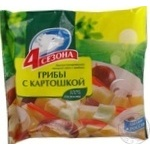 Смесь 4 Сезона грибы с картофелем быстрозамороженная 400г Россия