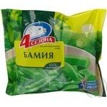 Бамия 4 Сезона быстрозамороженная 400г Россия