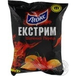 Chips Lux potato pepper 80g Ukraine