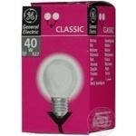 Лампа куля General Electric прозора 40Вт цоколь Е27