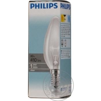Лампа Philips B35 свічка прозора 40w Е14 CL