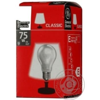 Лампа General Electric матова 75Вт цоколь Е27