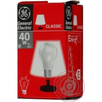 Bulb General electric e27 40w 230v - buy, prices for Novus - image 1
