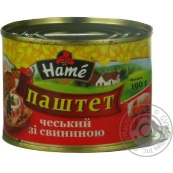НМ ПАШТЕТ ЧЕСЬК З СВИН Ж/Б 190Г