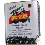olive Coopoliva black pitted can