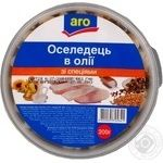 Fish herring Aro with spices preserves 200g hermetic seal Ukraine