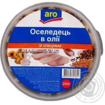 Сельдь Аро в масле со специями 200г Украина