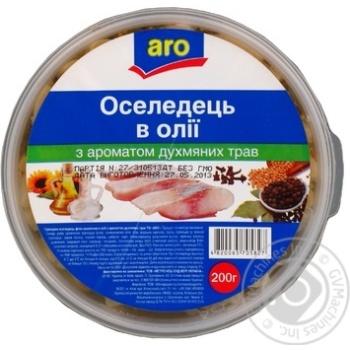 Сельдь Аро в масле с ароматом душистых трав 200г Украина