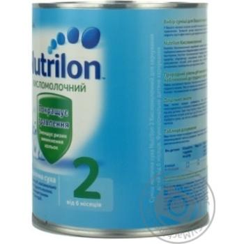 Смесь молочная Нутриция Нутрилон 2 Кисломолочный сухая для детей с 6 месяцев железная банка 400г - купить, цены на Ашан - фото 2