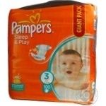 Diaper Pampers Slip end play for children 4-9kg 100pcs 3000g