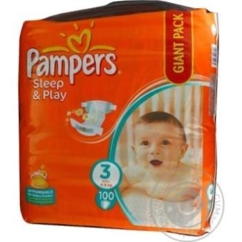 Diaper Pampers Slip end play for children 4-9kg 100pcs 3000g