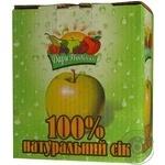 Сок Дары Подилля яблочный натуральный тетрапакет 3000мл Украина