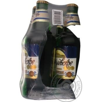 Пиво Жигулевское Разливное светлое пастеризованное стеклянная бутылка 4.8%об. 4х500мл Украина
