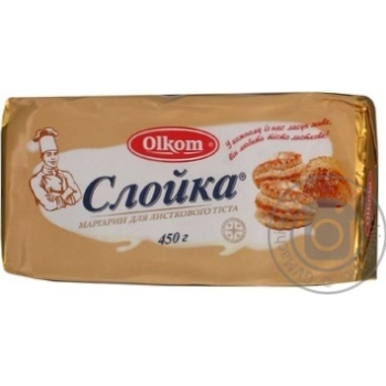 Margarine Olkom Turnover chilled for dough 80% 450g Ukraine
