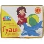 Фарба гуаш Хевіт 12 кольорів Улюблені іграшки 10мл