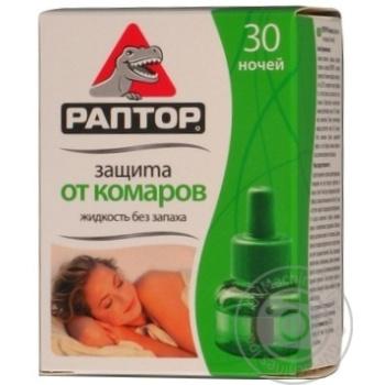 Жидкость от комаров Раптор для электрофумигаторов 30 ночей