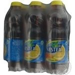Non-alcoholic non-carbonated pasteurized drink Nestea Ice Tea with lemon taste 6х1000ml plastic bottle Ukraine