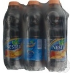 Non-alcoholic non-carbonated pasteurized drink Nestea Ice Tea with peach taste 6х1000ml plastic bottle Ukraine