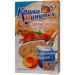 Хлопья Каша Минутка овсяные с персиком и сливками быстрого приготовления 215г Россия