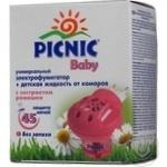 Набір електрофумігатор+рідина від комарів 45ночей Пікнік Baby 30мл