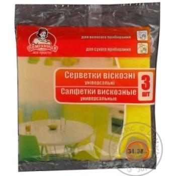 Napkins Pomichnytsia viscose for home 3pcs - buy, prices for Novus - image 2