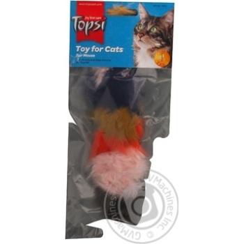 Іграшка Topsi для тварин Миша пухнаста Art.1601 х6 - купити, ціни на МегаМаркет - фото 5