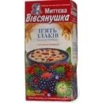 Каша Вівсянушка П'ять злаків з лісовими ягодами 46г х 8шт Україна